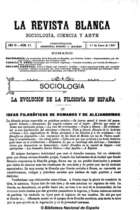 Portada ¡nº 61 AÑO III 1-1-1901