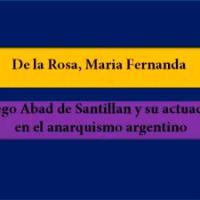 Maria Fernanda De la Rosa  – Diego Abad de Santillán y su actuación en el anarquismo argentino (Libro)